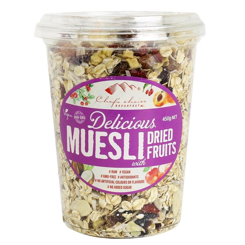 Ngũ cốc Muesli với các loại quả khô