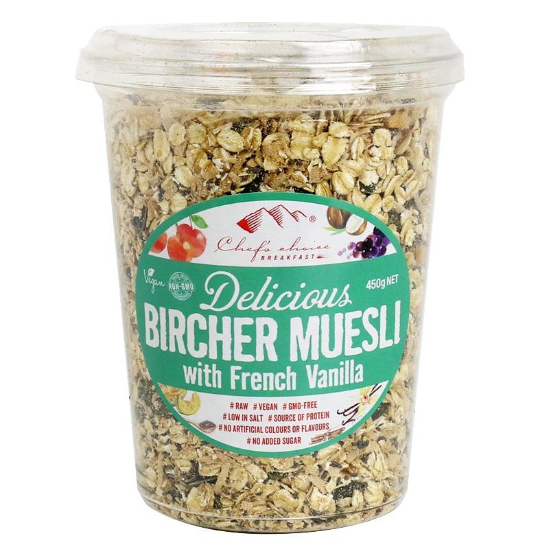 Ngũ cốc Bircher Muesli với hương vanila của Pháp