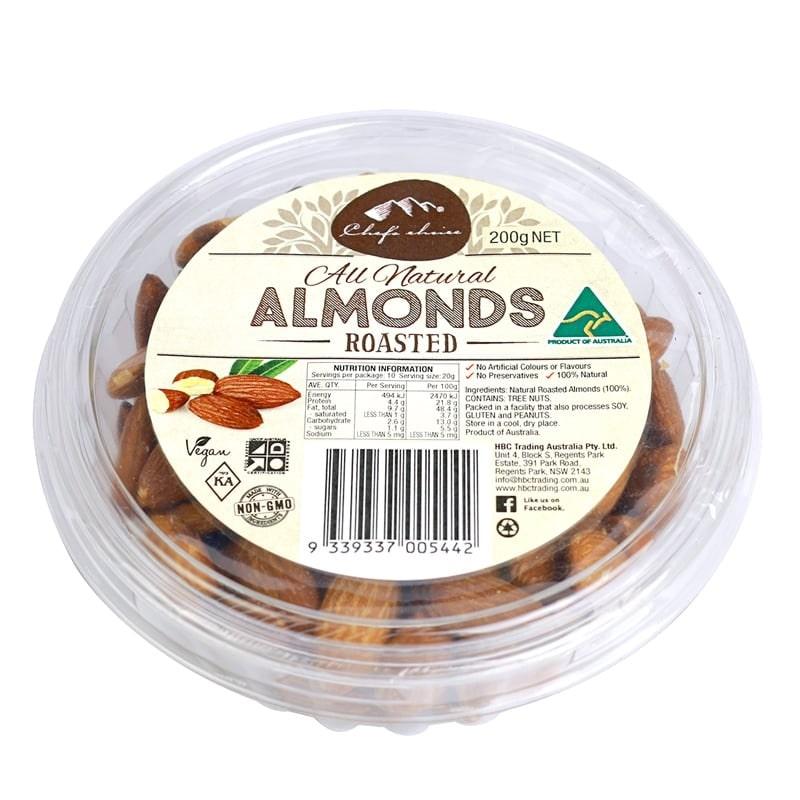 Hạnh nhân Almond rang thiên nhiên