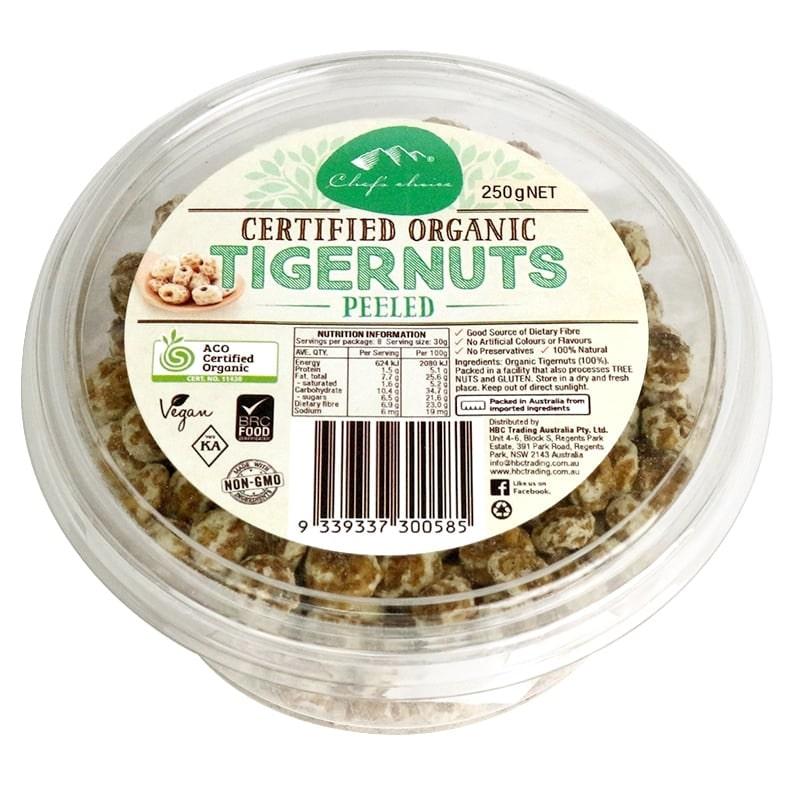 Hạt hổ- Chufa Tiger Nut bóc vỏ organic